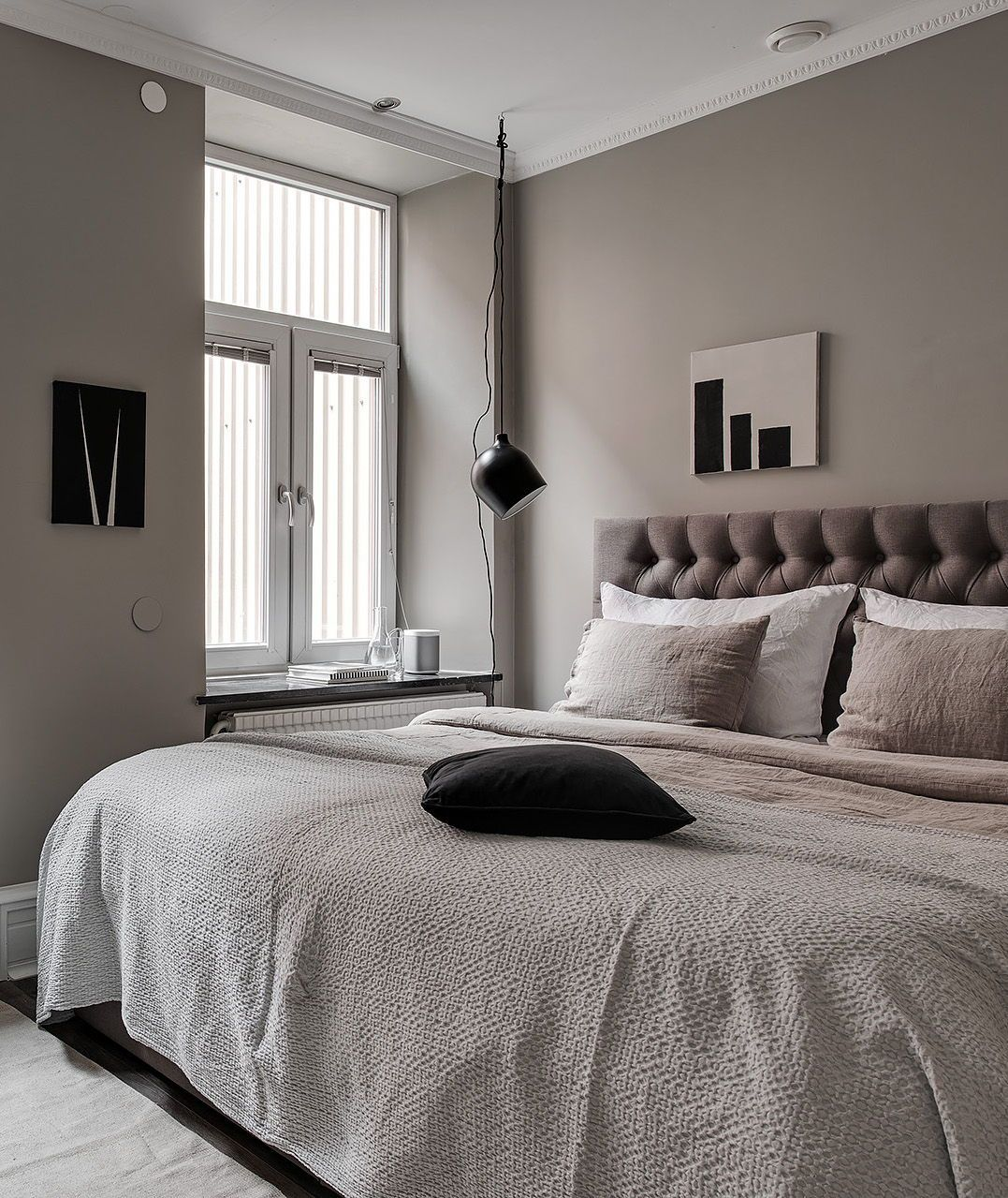 Elegant Home In Deep Grey With Images Bedroom Interior Home