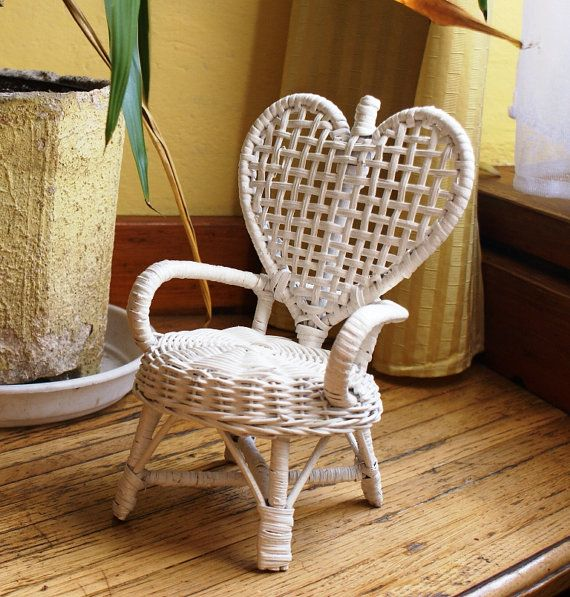 Lovely White Wicker Chair Shabby Chic Home By