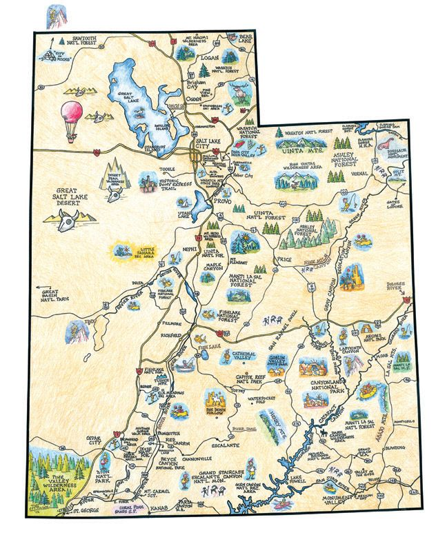 Utah Recreation Map LWG Pinterest Utah And Site Map - Utah maps