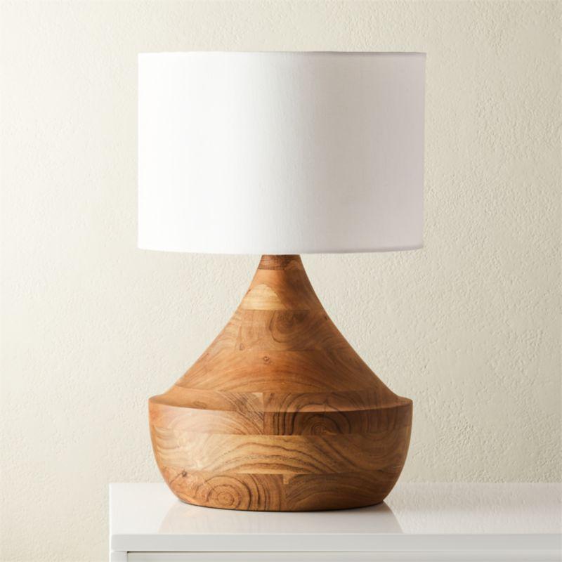 Shop Atlas Natural Wood Table Lamp Wood Table Lamp By Mermelada Estudio Calls To Mind French Moroccan Style Natural Wood Table Table Lamp Wood Wood Floor Lamp