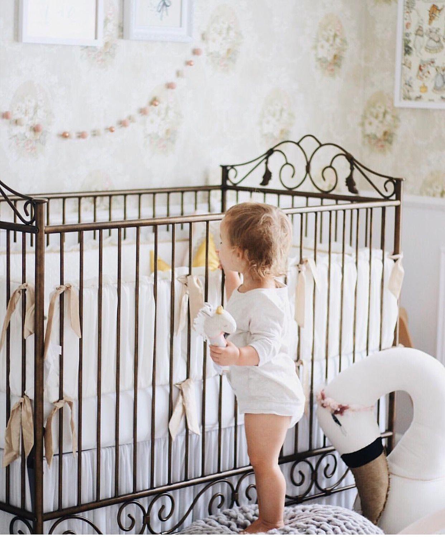 Iron Crib Beautiful Nursery Baby Bedding