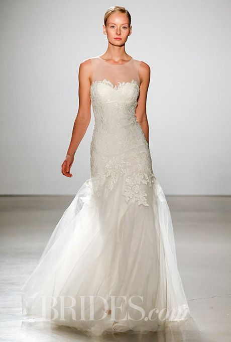 Amsale - Spring 2016   Illusion neckline, Wedding dress and Wedding ...