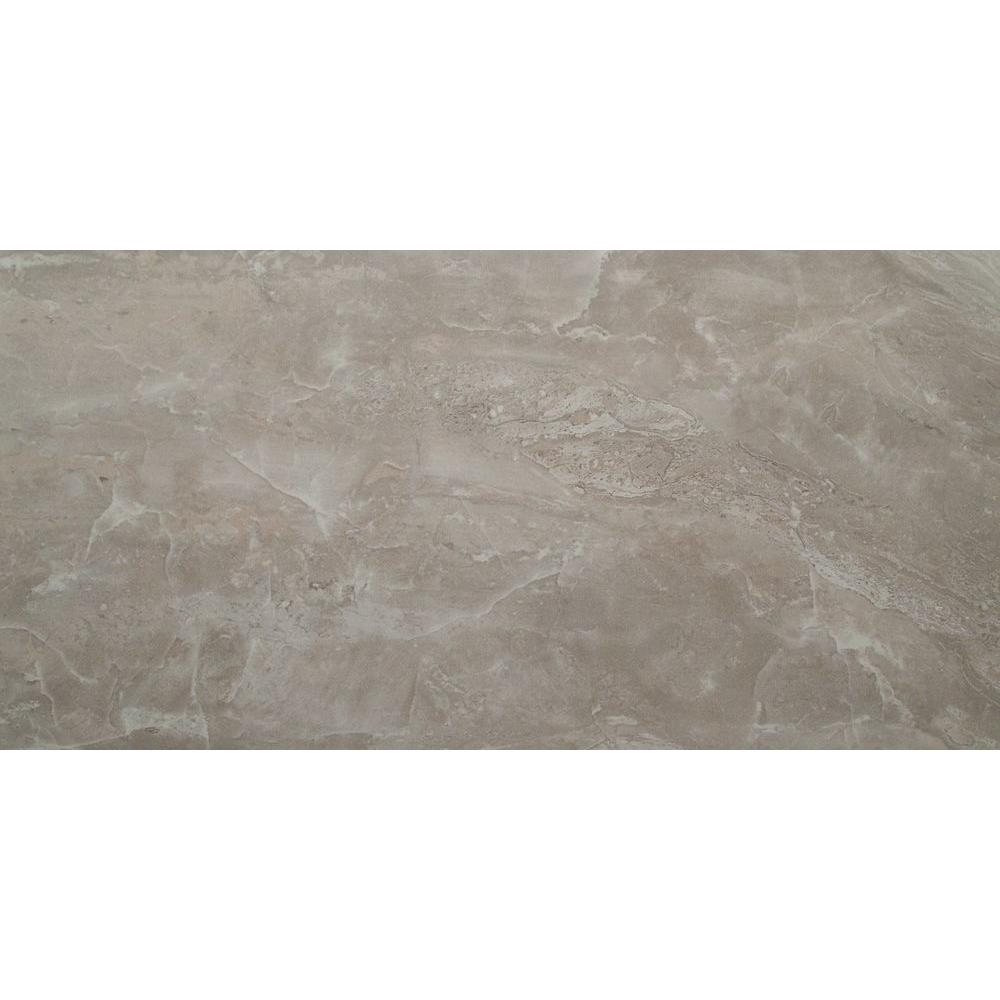 Ms International Cappuccino 12 In X 12 In Polished: MSI Onyx Pearl 12 In. X 24 In. Polished Porcelain Floor