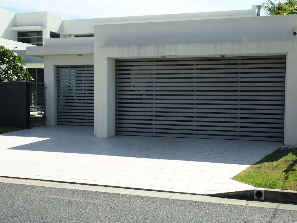 Grey Batten Doors Airflow Garage Door Series Perfect For The