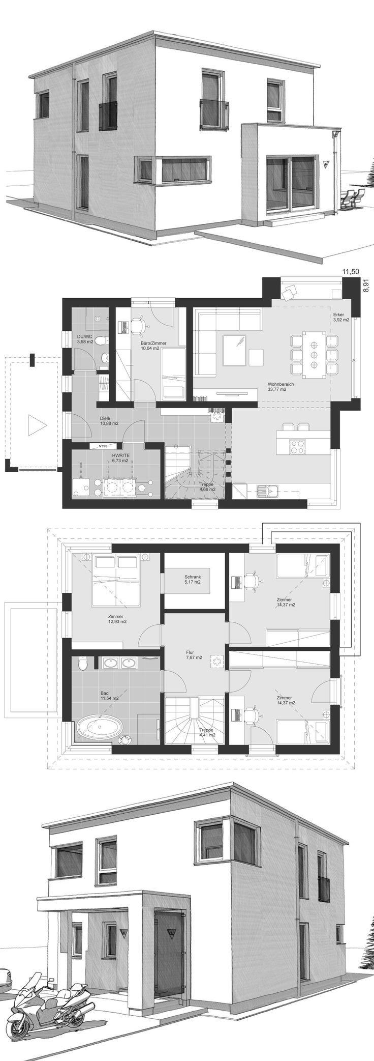 ELK Haus 140 im modernen Alpenstil ELK Fertighaus