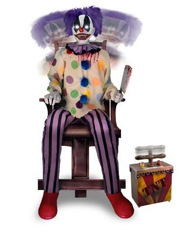thrashing clown exclusively at spirit halloween shake things up on halloween - Clown Halloween Decorations