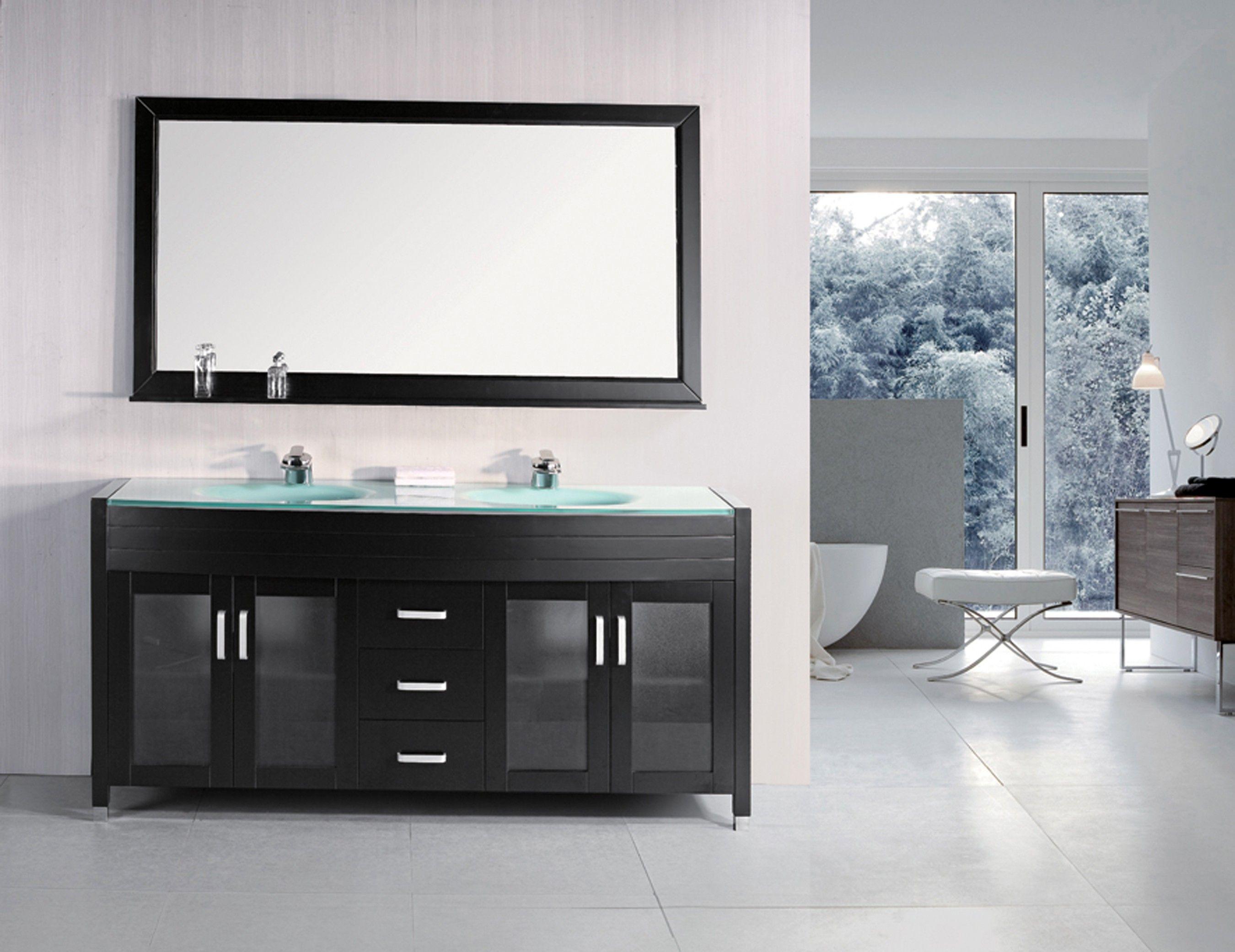 Waterfall White 72 Double Sink Vanity Set Double Sink Vanity Vanity Sink 72 Double Sink Vanity