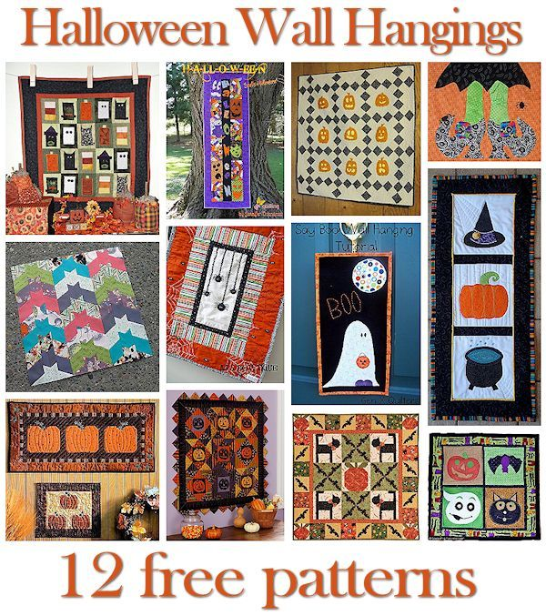12 Halloween Wall Hanging Patterns | Best Decor and DIY Roundups ... : quilted wall hanging patterns free - Adamdwight.com