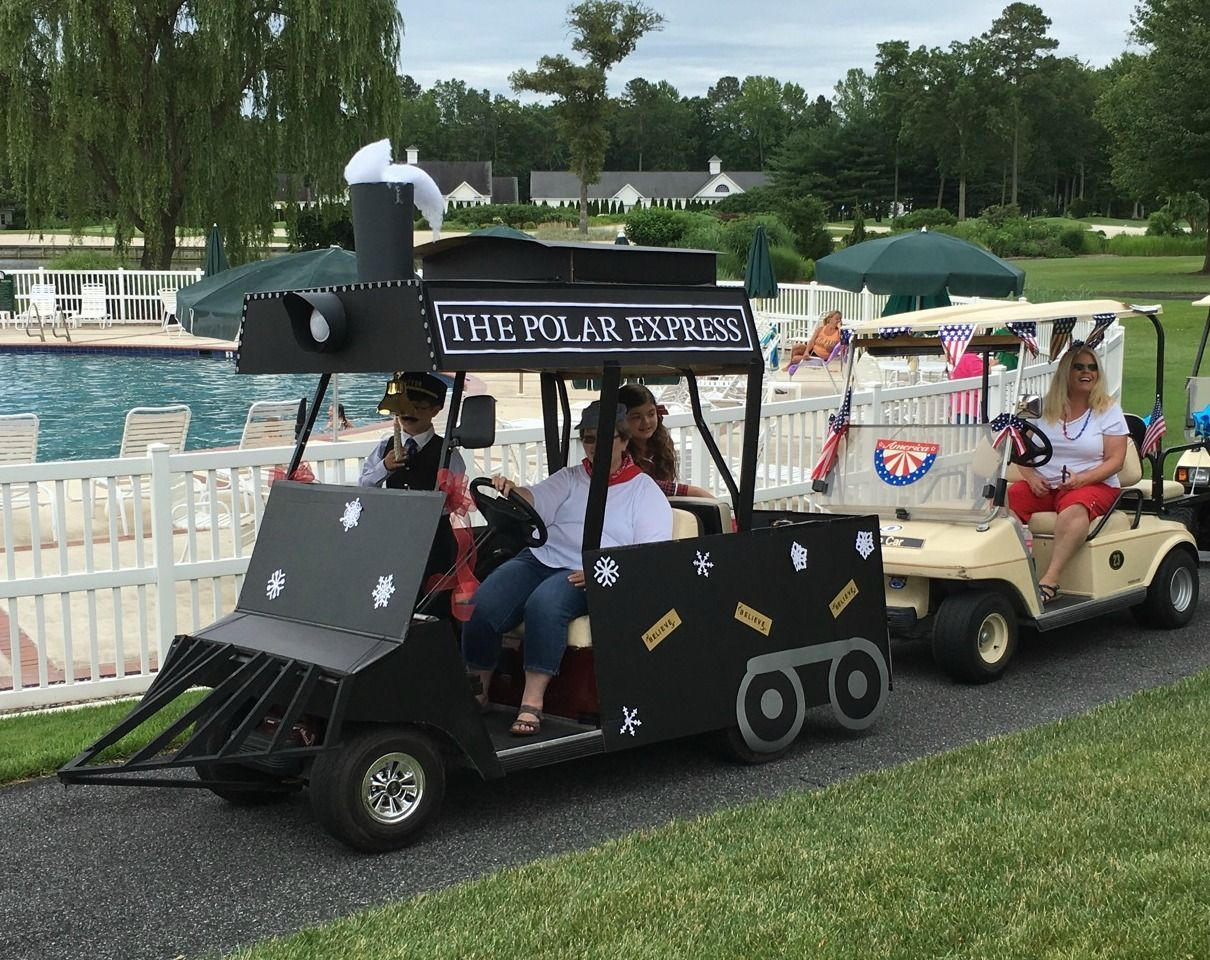 Christmas Golf Cart Christmas Golf Golf Carts Golf Cart Decorations