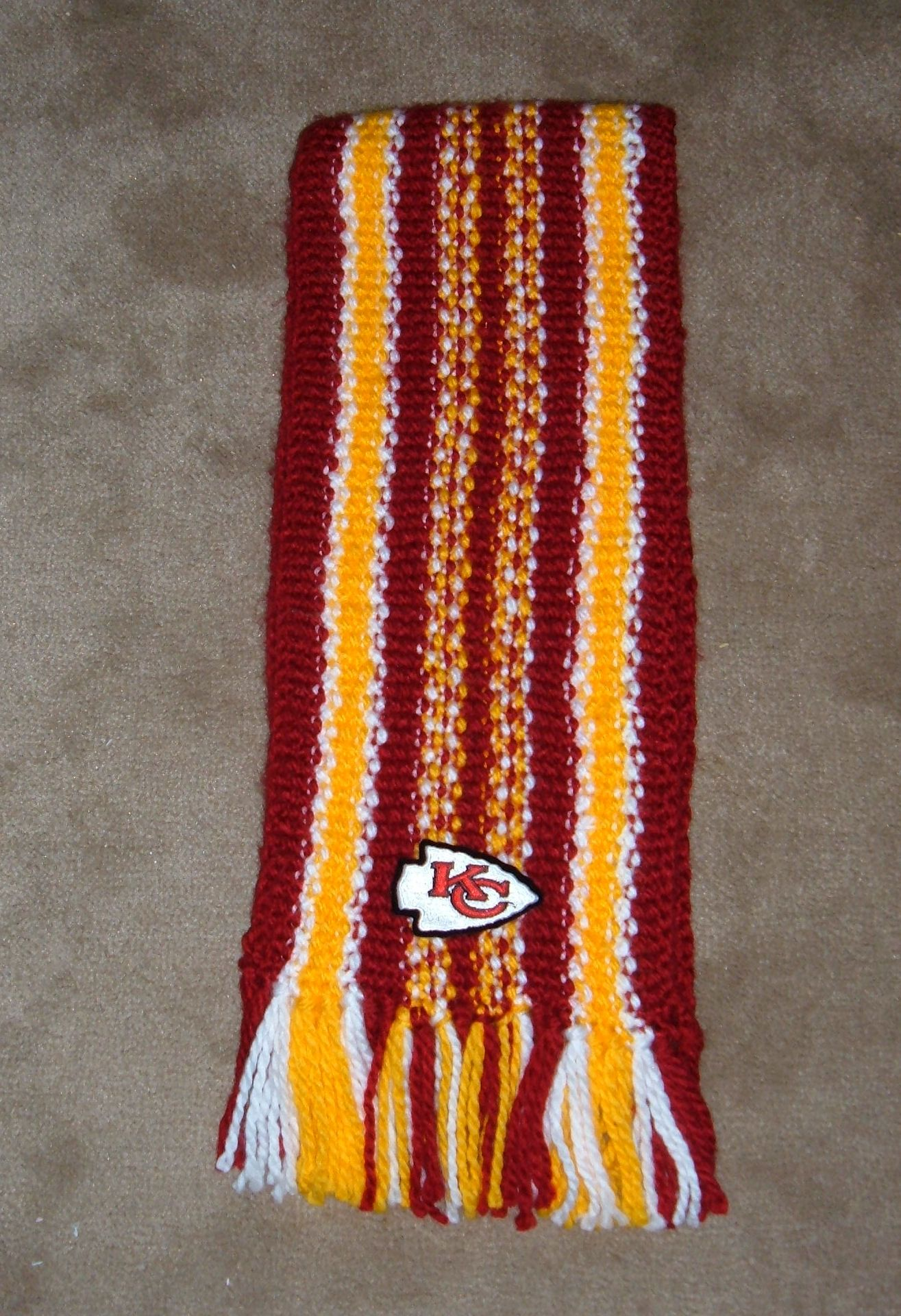 Kansas City Chiefs Scarf Handmade For My Niece Cheri