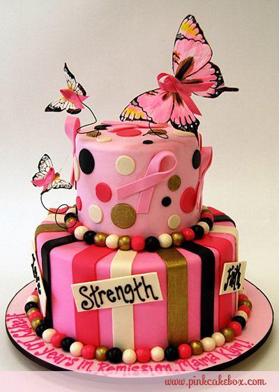Breast Cancer Awareness Cake by Ann Heap