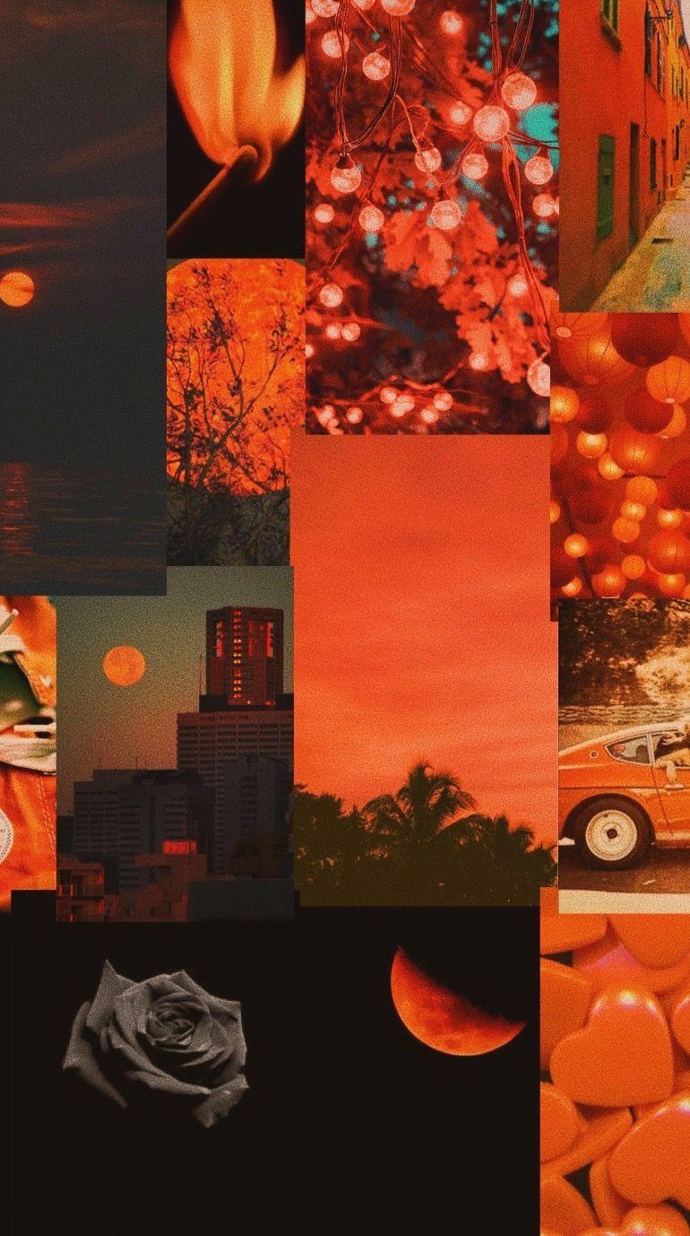 Orange and black aesthetic wallpaper ...