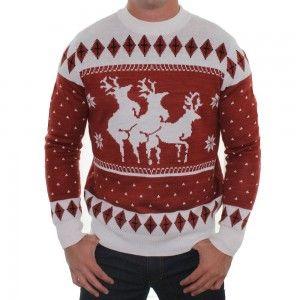 Naughty Reindeer Christmas Sweater www.ineedafunnygift.com #ryucs ...