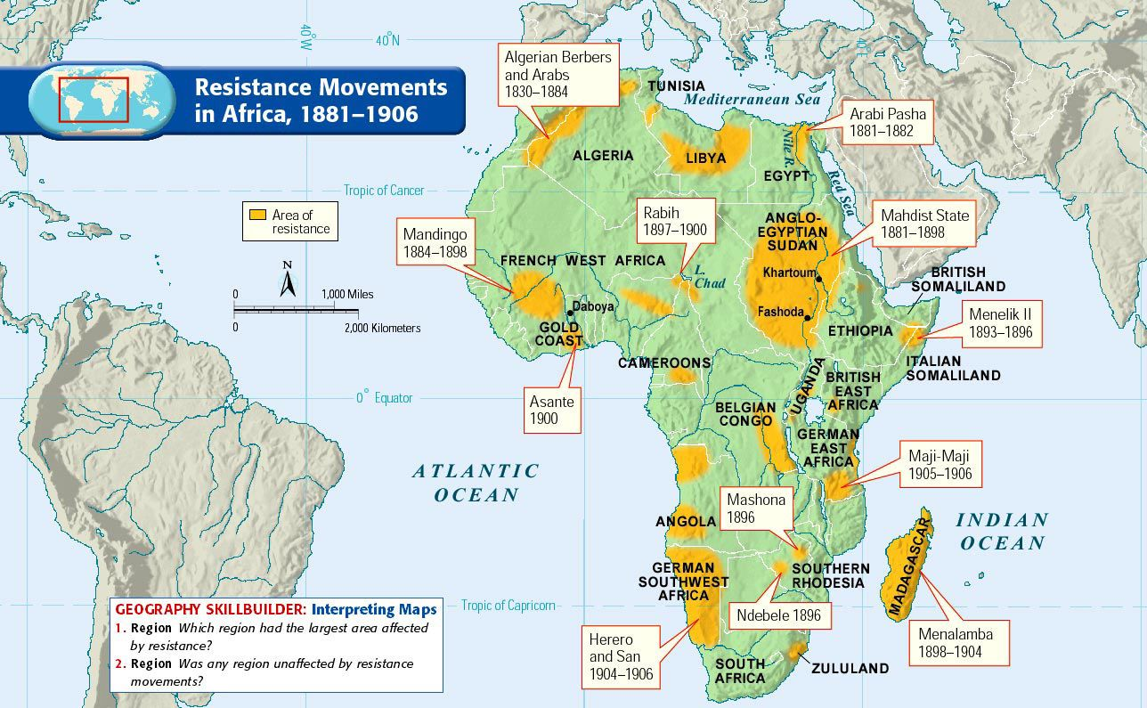 1881 1906) Resistance Movements in Africa | Other Revolutions