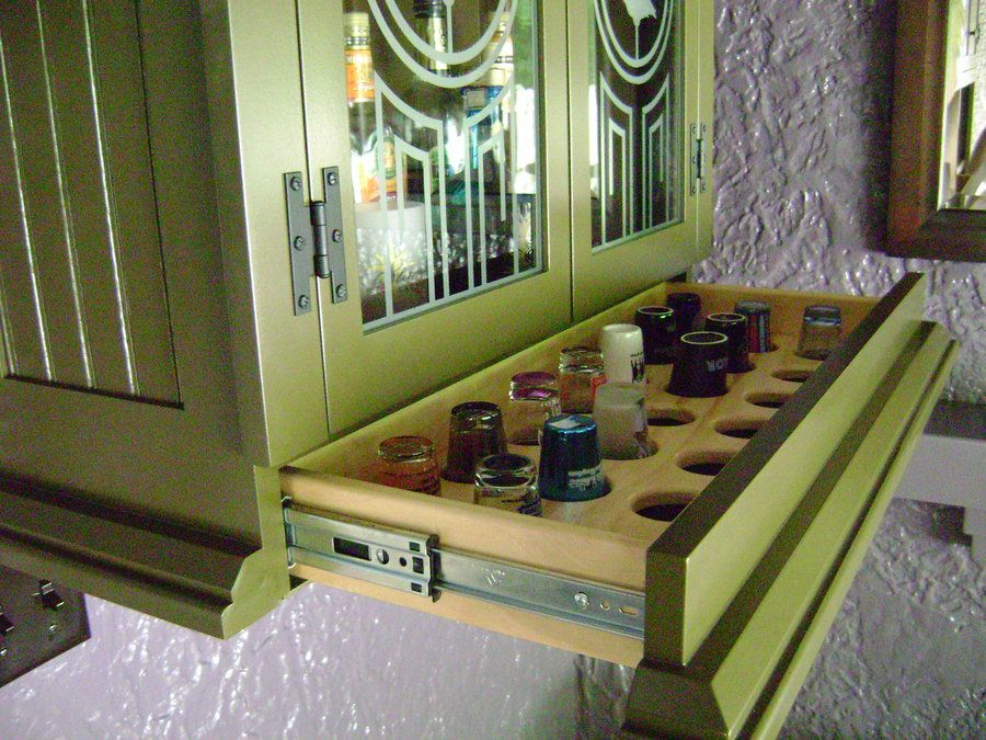 built in liquor cabinets | Liquor Cabinet with Hidden Drawer ...