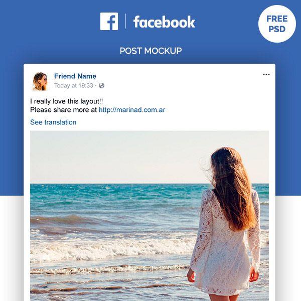 facebook post mockup - Ataum berglauf-verband com