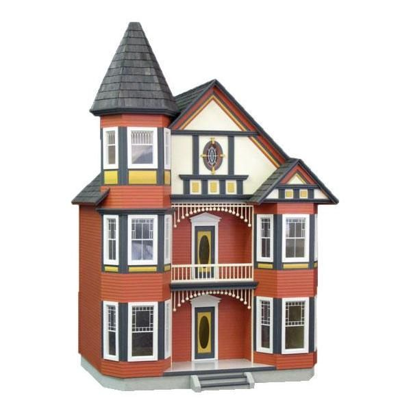 Victorian Painted Lady Dollhouse Kit. I Like The Pink
