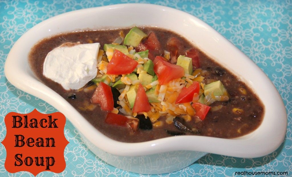 Black Bean Soup is healthy, full of flavor, and super filling! It makes for a perfect meal on a chilly night!