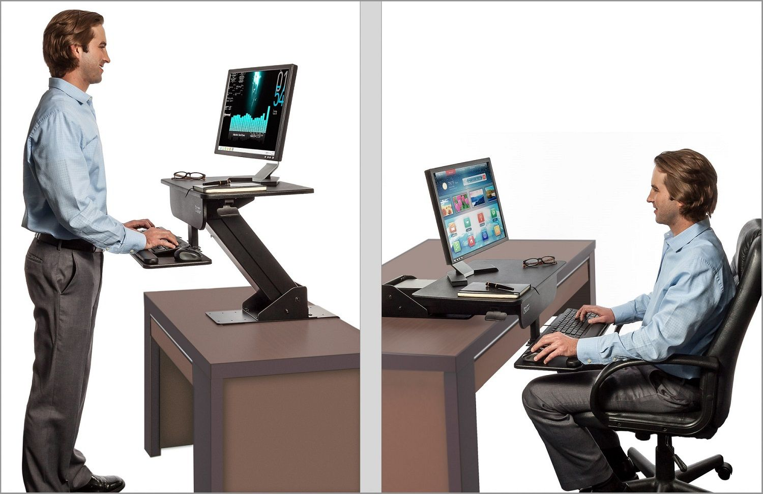 Sit Stand Desk Adjustable Height Standing Computer Workstation Computer Stand For Desk Sit Stand Desk Adjustable Sit Stand Desk