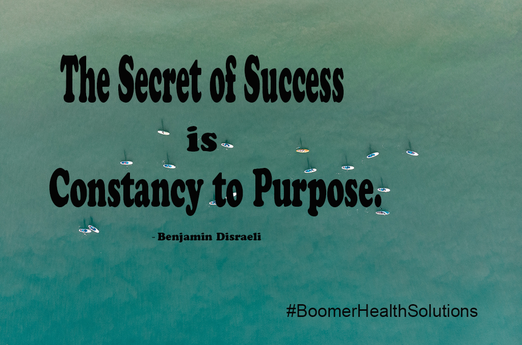 The Secret Of Success Is Constancy To Purpose Inspirational