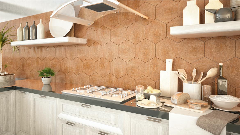 Valencia hexagono beige, cocina, moderna, elegante, moderna ...