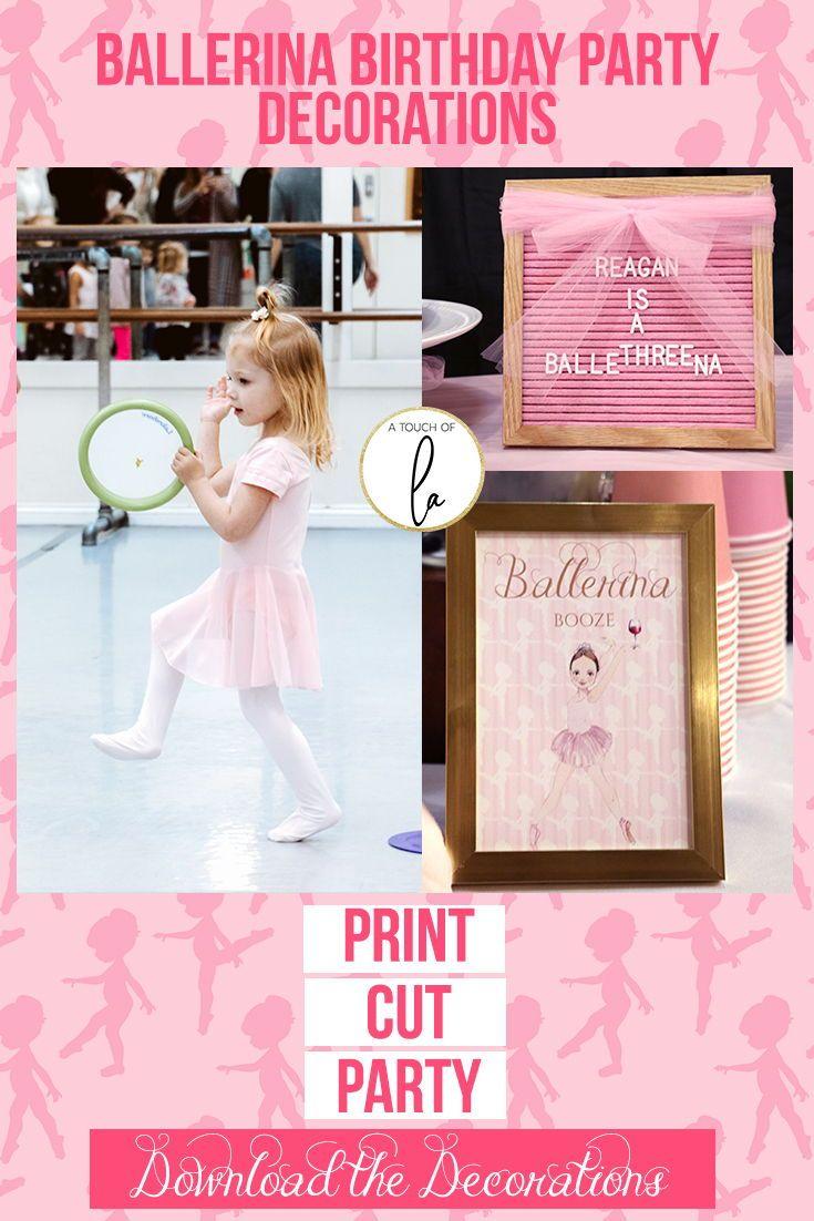 Ballerina Birthday Party Decorations