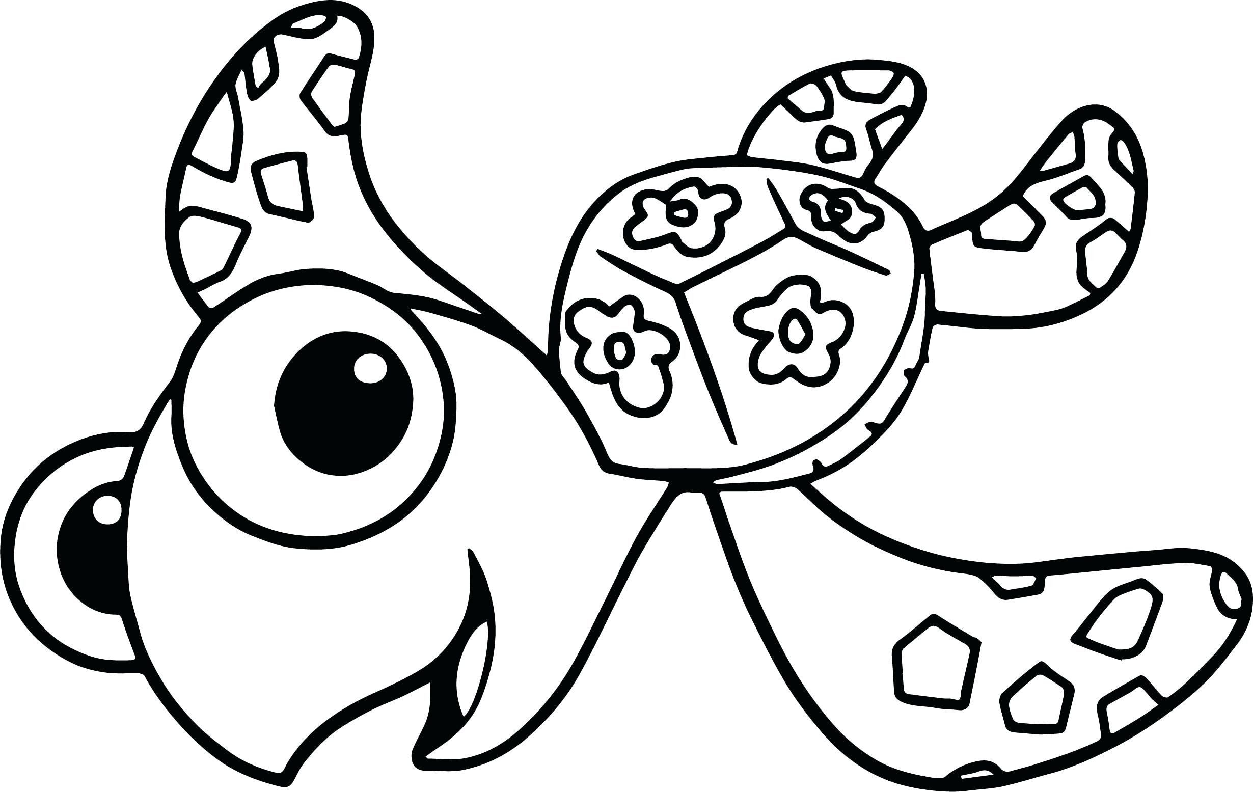 Sea Turtle Coloring Pages Luxury Of Cute Sea Turtle