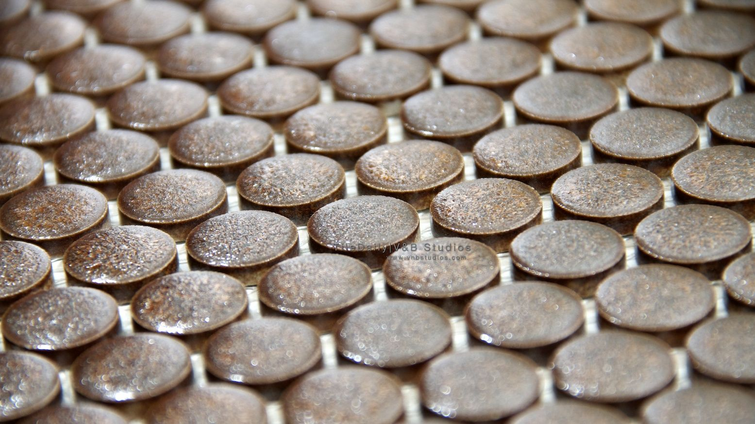 Rustic Textured Penny Rounds Penny Round Mosaic Penny Tile Penny Round