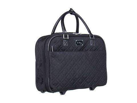 9381ec6880 Vera Bradley Luggage Roll Along Work Bag Black - Zappos.com Free Shipping  BOTH Ways