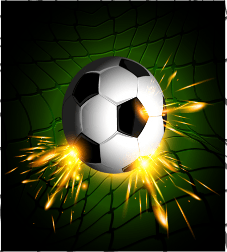 تصميم رياضي كرة قدم مشتعلة على شباك المرمى ملف مفتوح Vector Background Football Background Background