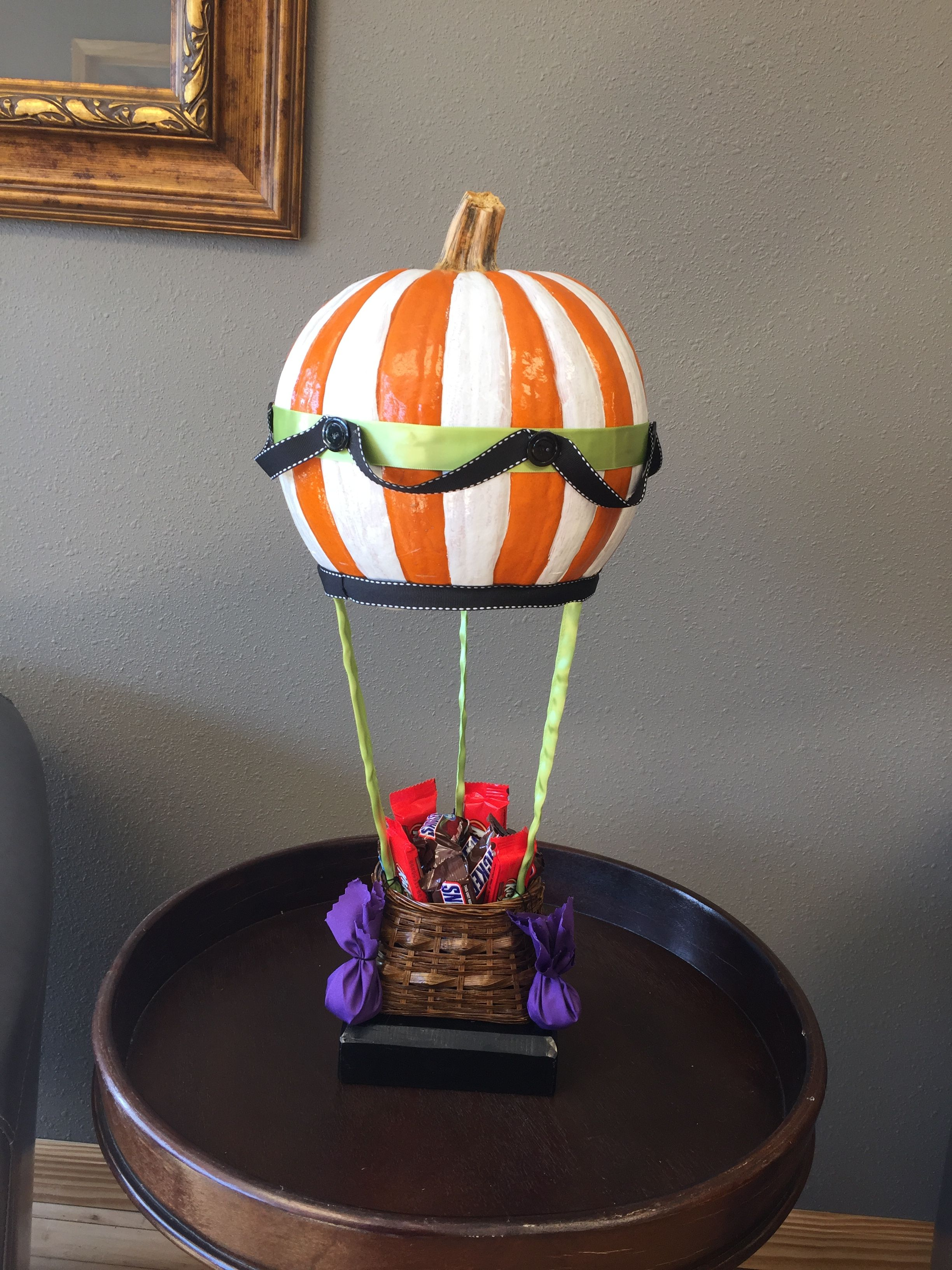 Hot Air Balloon Decorated Pumpkin Pumpkin decorating