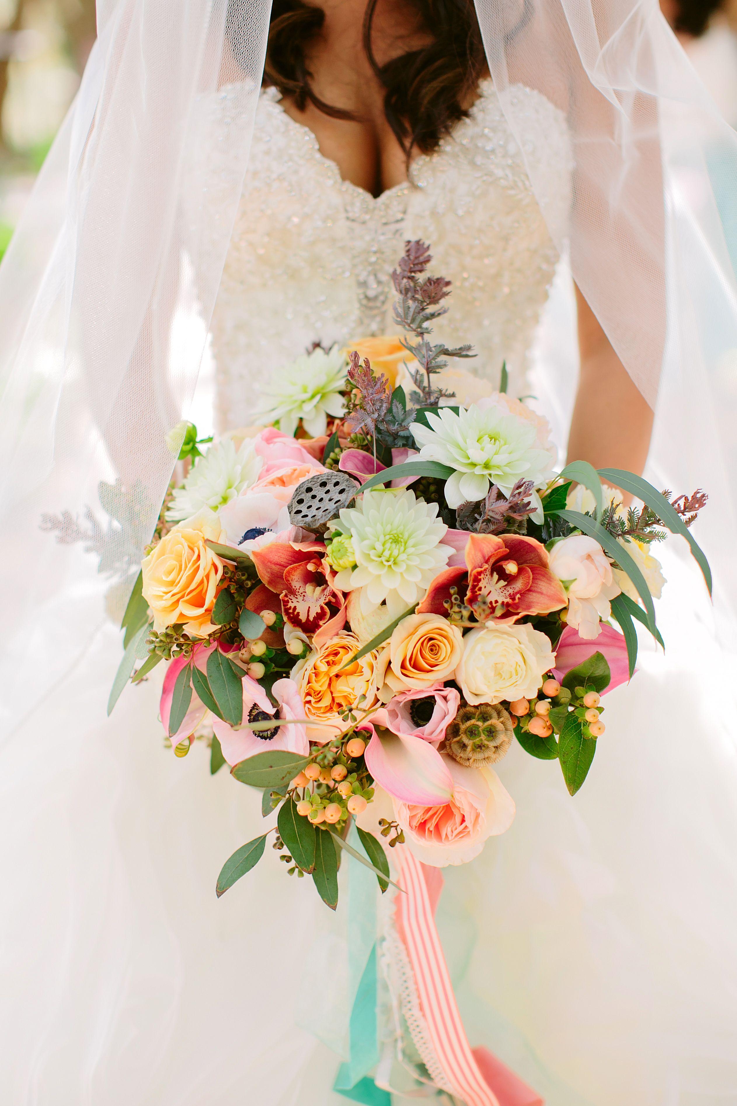 Colorful overflowing flower bouquet wedding plans pinterest colorful overflowing flower bouquet izmirmasajfo