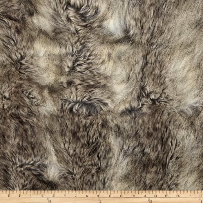 Faux Fur Canadian Fox Stone