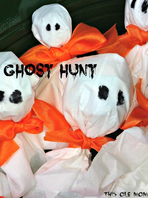 Ghost Hunt Halloween crafts for kids, Halloween games