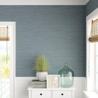 Highland Dunes Breathe new life to your walls with this contemporary textured wallpaper! Made from non-woven fabric, this linen-textured wallpaper showcases a rich denim hue, while shimmering undertones lend added depth and dimension. With a pattern repeat every 25
