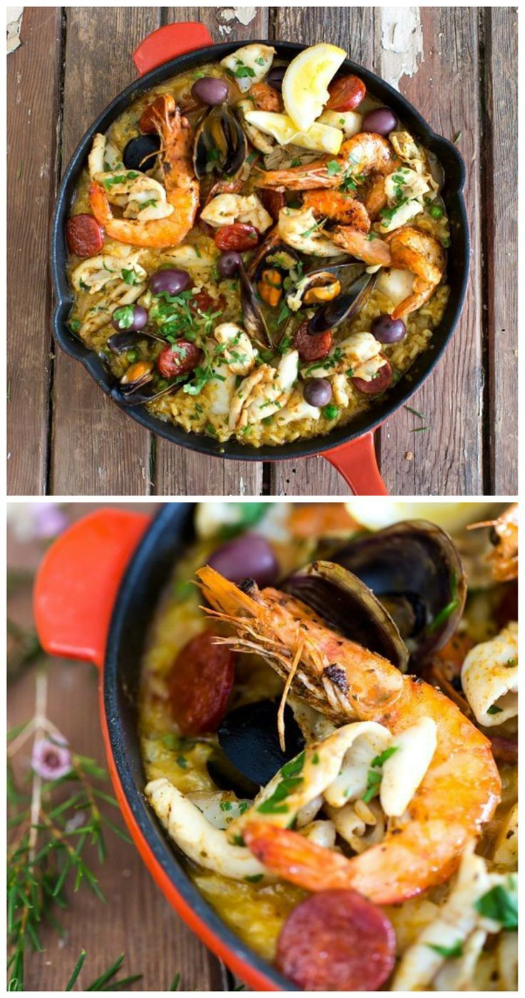 Authentic easy seafood paella recipes the pretty blog authentic easy seafood paella recipes the pretty blog forumfinder Image collections