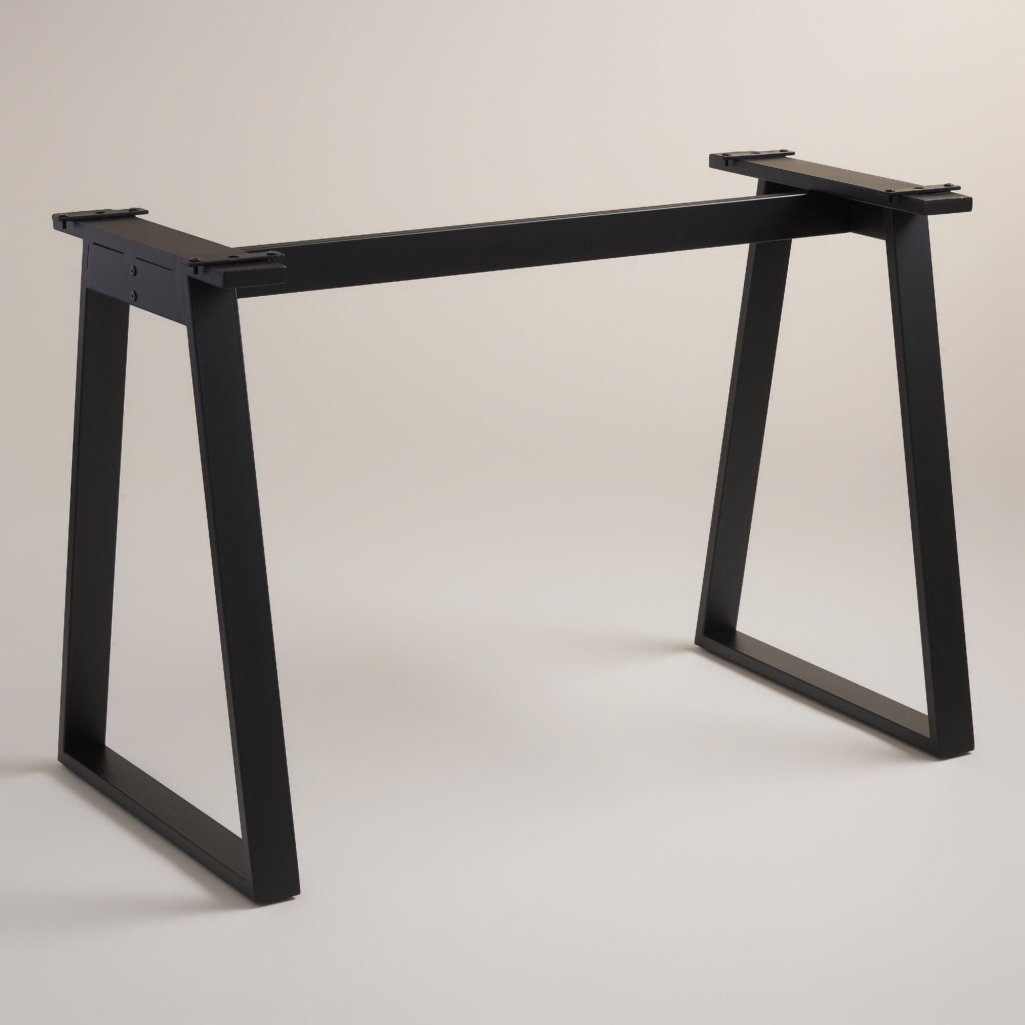 Blackened Metal Colton Mix & Match Desk Base