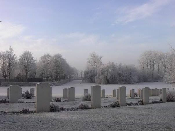Winterbeeld in Ieper - Belgium
