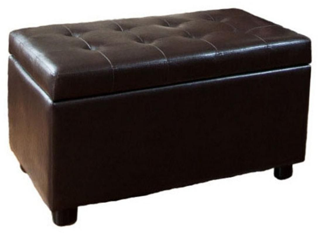 149 91 This Brown Faux Leather Storage Ottoman Makes A Practical