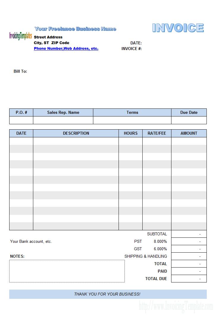freelance billing template aa pinterest invoice template