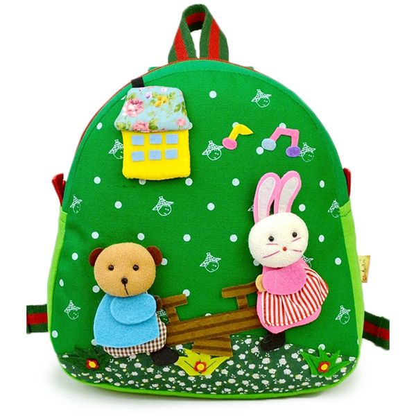 Children Kids Canvas Backpack Cute Cartoon Doll Toy School Bags Kindergarten  Schoolbag Worldwide delivery. Original 8c59f992a1725