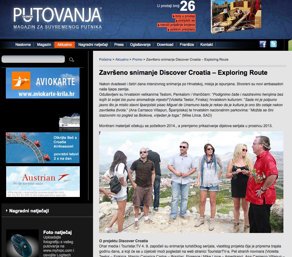 Putovanja Za Dvoje Croatia Discover Pressing