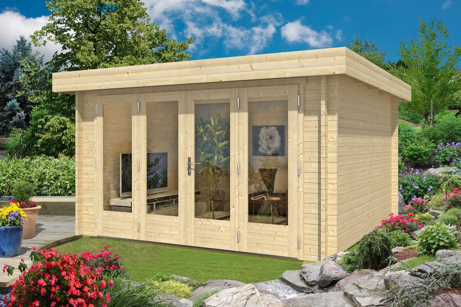 Gartenhaus Java 44 B Iso Mit Grosser Falttur Gartenhaus Haus Haus Und Garten