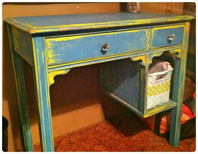 Distressed desk! One of our first pieces!