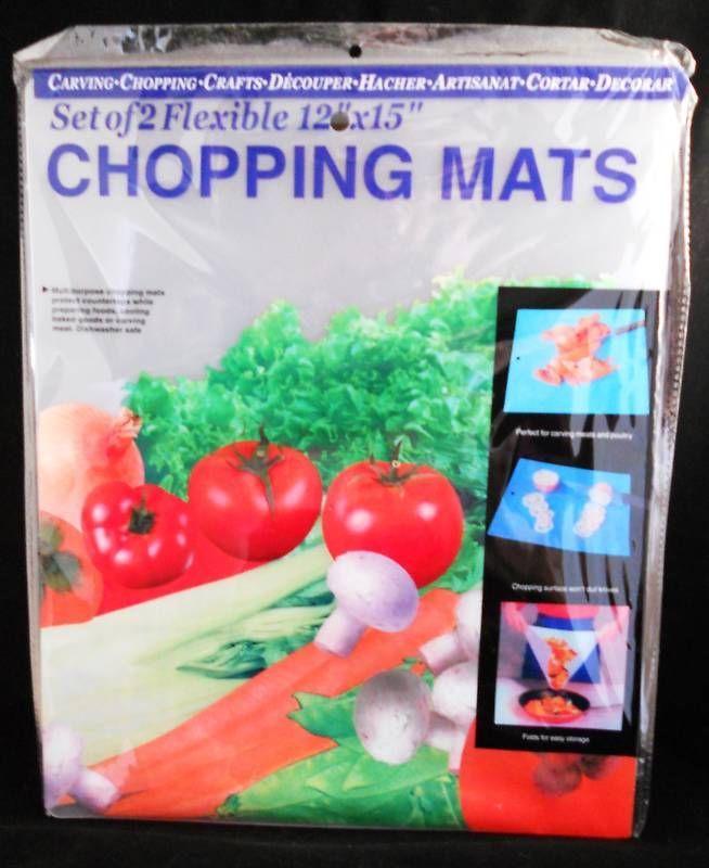 """12"""" x 15"""" Flexible Chopping Mats [Set of 2]"""