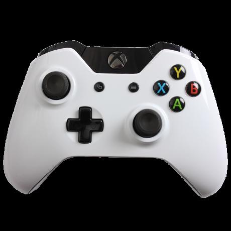 Glossy White Custom Xbox One Controller Jogos Xbox One Controle De Jogo Controle Xbox