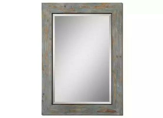 Distressed Blue Finish And A Light Gray Finish Wash Mirror