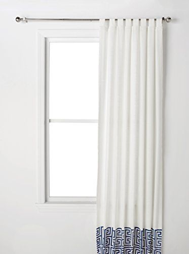 Happy Chic By Jonathan Adler Elizabeth Window Curtain White Blue