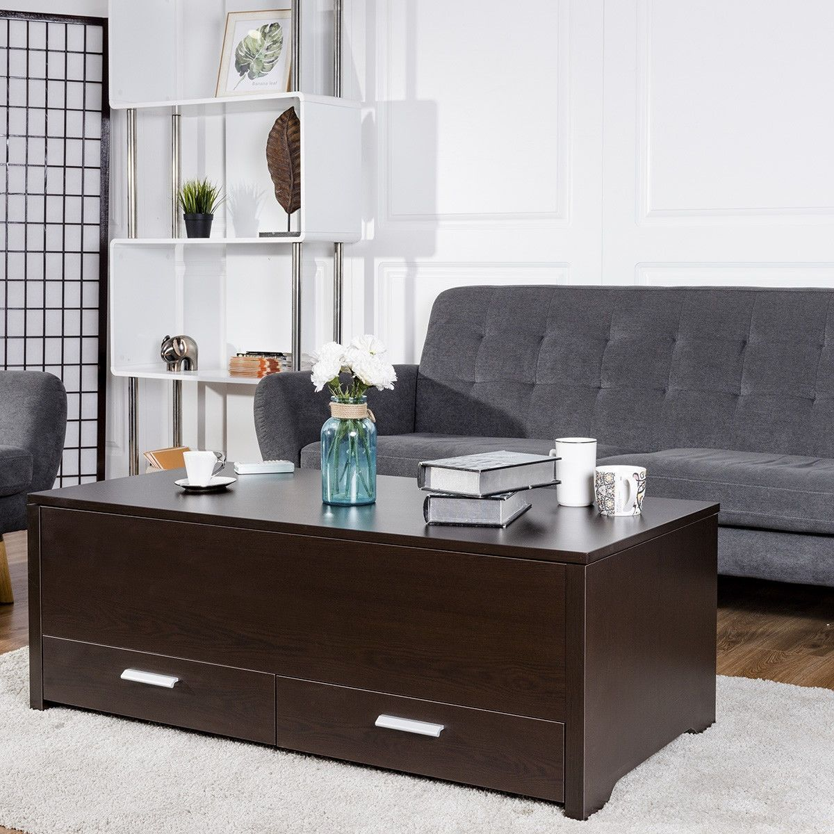 Sliding Top Trunk Coffee Table With Hidden Compartment 2 Drawers Coffee Table Coffee Tables For Sale Coffee Table Trunk [ 1200 x 1200 Pixel ]