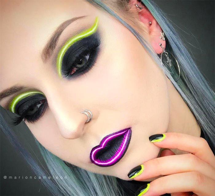Neon Light Makeup Trend Is Huge On Instagram With Images Neon